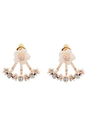 www.sayila.nl - Metalen oorstekers ear jacket met strass 18x16mm