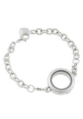 www.sayila-perlen.de - Armband mit Floating Charm Locket 20cm