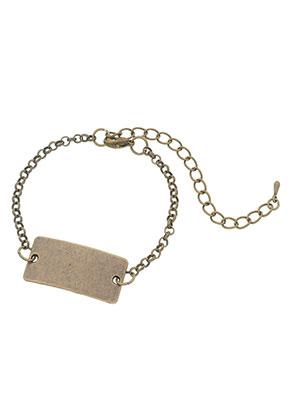 www.sayila.be - Metalen armband met naamlabel tussenzetsel rechthoek 21-26cm