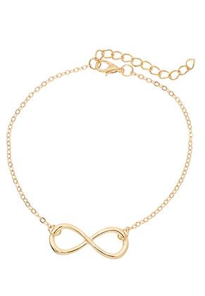 www.sayila.nl - Armband/enkelbandje met infinity teken 22-27cm