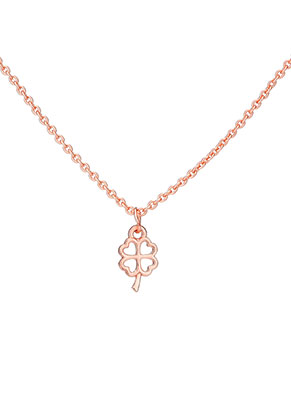 www.sayila.com - Necklace with pendant four-leaf clover 45-51cm