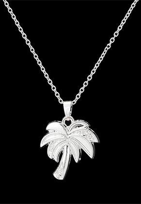 www.sayila.fr - Collier avec pendentif palmier 45-51cm
