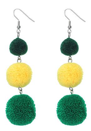 www.sayila.com - Bonbon earrings with pompoms 94x25mm
