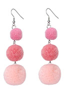 www.sayila.co.uk - Bonbon earrings with pompoms 94x25mm - J04906