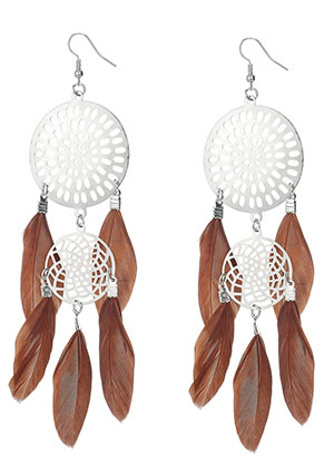 www.sayila.com - Dreamcatcher earrings 15x4cm