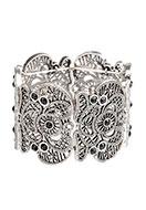 www.sayila-perlen.de - Metall Armband mit Spitze look, elastisch 21-19cm - J04935