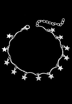 www.sayila.nl - Armband/enkelbandje met bedels sterretjes 21-25cm