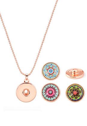www.sayila.es - Paquete de collar DoubleBeads EasyButton de brass 45cm