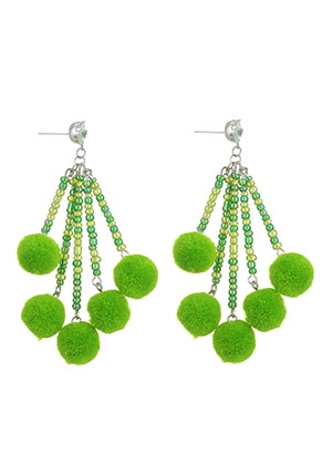 www.sayila.com - Earrings with pompoms 85x35mm