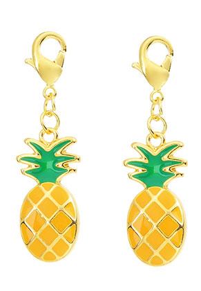 www.sayila-perlen.de - Metall Anhänger Ananas mit Verschluss 40x11mm