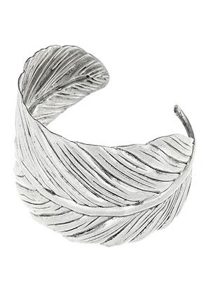 www.sayila-perlen.de - Stulpe-Armband Feder 19cm