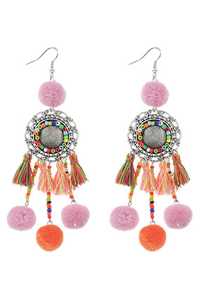 www.sayila.com - Earrings with tassels and pompoms 11,5x3cm
