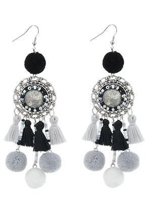 www.sayila.com - Earrings with tassels and pompoms 11,5x3cm