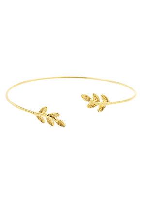 www.sayila.com - Brass cuff bracelet with leaves 19cm