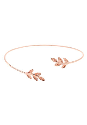 www.sayila.com - Brass cuff bracelet with leaves 19cm
