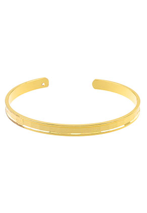 www.sayila.nl - Brass cuff armband blank 19cm, 5mm breed