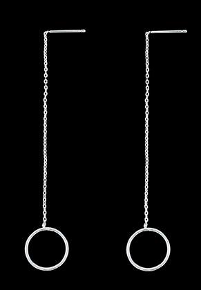 www.sayila.com - Brass ear threads/ear studs with circle 80x14mm