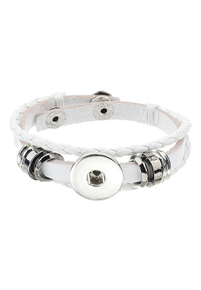 www.sayila.nl - DoubleBeads EasyButton imitatieleren armband 19-21cm