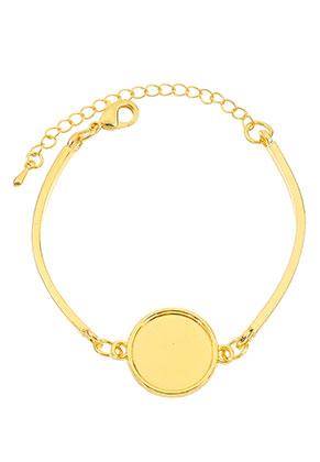 www.sayila.be - Metalen armband met kastjes voor 16mm plaksteen