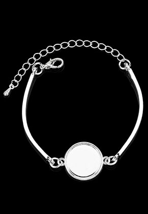 www.sayila.com - Metal bracelet with settings for 16mm flat back