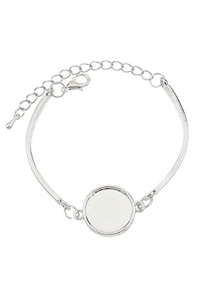www.sayila.com - Metal bracelet with settings for 16mm flat back