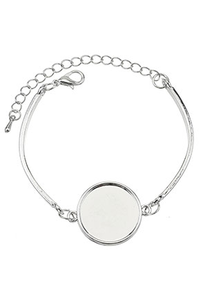 www.sayila.com - Metal bracelet with settings for 20mm flat back
