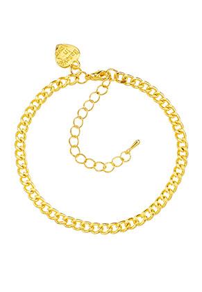 www.sayila.fr - Bracelet en métal avec breloque coeur 19-25x0,45cm
