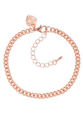 www.sayila.fr - Bracelet/bracelet de cheville en métal avec breloque coeur 19-25x0,45cm
