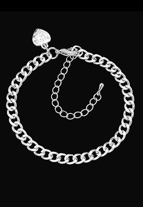 www.sayila.es - Pulsera/tobillera de metal con dije corazón 18-25x0,55cm