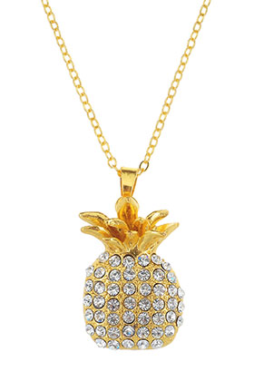 www.sayila.com - Necklace with pendant pineapple 45-50cm