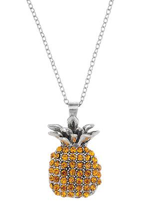 www.sayila.nl - Halsketting met hanger ananas 45-50cm