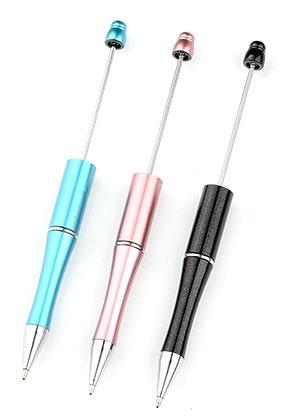 www.sayila-perlen.de - Mix Kunststoff/Metall Kugelschreibern für Perlen 15cm