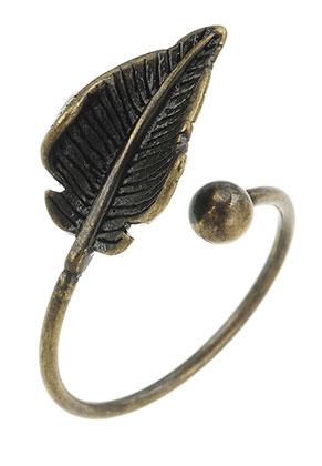 www.sayila-perlen.de - Brass Ring Blättchen >= Ø 17mm