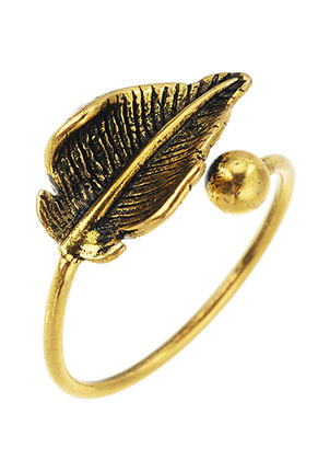 www.sayila.com - Brass ring leaf >= Ø 17mm