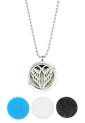 www.sayila.com - Stainless steel DoubleBeads EasySwitch perfume locket necklace set DQ 80cm