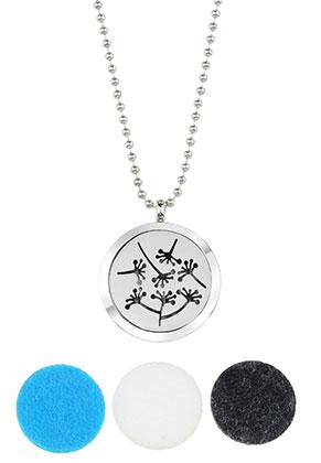 www.sayila.com - Stainless steel DoubleBeads EasySwitch perfume locket necklace set DQ 80cm