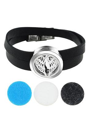 www.sayila.fr - Paquet de bracelet médaillon de parfum en cuir artificiel DQ 19cm