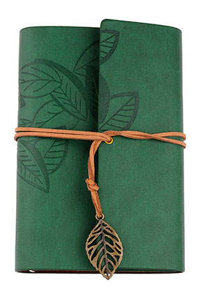 www.sayila.com - Notebook decorated with leaves
