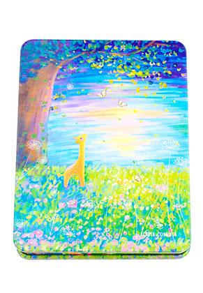www.sayila.es - Cuaderno de notas con árbol y jirafa 14,5x11cm