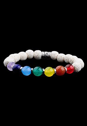 www.sayila.nl - Natuursteen armband Rainbow Chakra 17cm