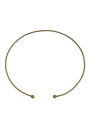 www.sayila-perlen.de - Brass Halsreif 40cm (2mm dick) mit abnehmbaren Drehverschluss