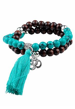 www.sayila.com - Bracelet with natural stone and tassel 18cm