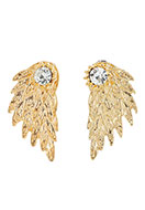 www.sayila.com - Metal ear jackets with strass wing 30x15mm - J05760