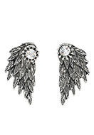 www.sayila.co.uk - Metal ear jackets with strass wing 30x15mm - J05762