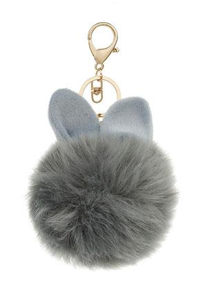 www.sayila-perlen.de - Schlüsselanhänger mit Flusenkugel Kaninchen 17x8cm