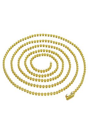 www.sayila.nl - Brass ball chain halsketting 80cm, 2mm dik