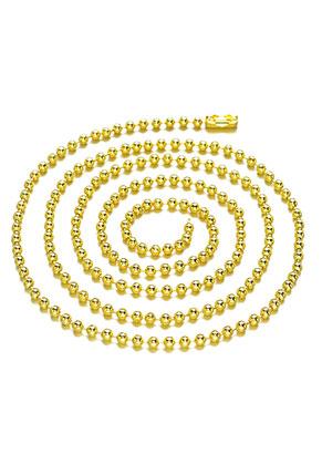 www.sayila.nl - Brass ball chain halsketting 80cm, 3mm dik