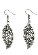 www.sayila.com - Metal earrings leaf 60x17mm - J05850