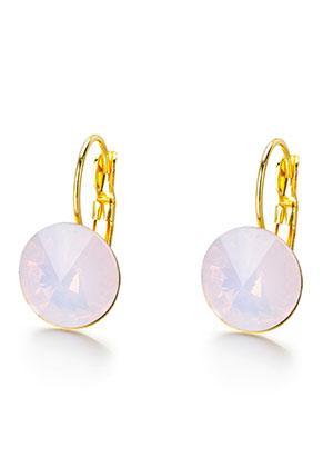 www.sayila.fr - Boucles d'oreilles en brass inoxydable avec strass 22x13mm