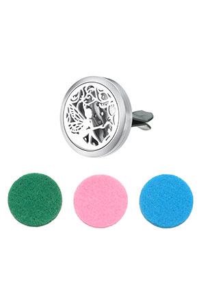 www.sayila.es - Clip difusor para perfume de coche de acero inoxidable 38x30mm